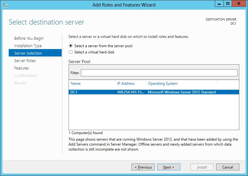 Windows Server 2012 - Добавление роли Active Directory