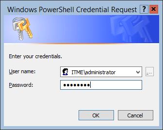Windows Server 2012 - Настройка роли Active Directory - запрос пароля пользователя